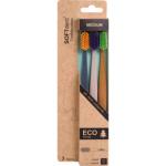 SOFTdent Eco zubní kartáček, středně měkký, 3 ks