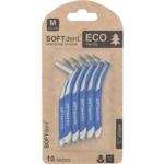 SOFTdent Eco mezizubní kartáček M zahnutý 0,6 mm, 10 ks