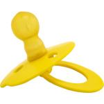Míša dětské latexové šidítko, kulaté s kroužkem, žlutá 1 kus