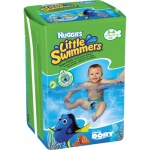 Huggies Little Swimmers 3/4 plenkové plavky do vody 7 až 15 kg, 12 ks