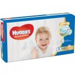 Huggies Ultra Comfort Jumbo 3 dětské pleny 5 až 8 kg, 56 ks