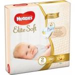 Huggies Elite Soft 2 dětské pleny 4 - 6 kg, 80 ks
