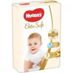 Huggies Elite Soft 3 dětské pleny 5 - 9 kg, 80 ks