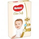 Huggies Elite Soft 4 dětské pleny 8 - 14 kg, 66 ks