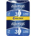 Always Ultra Night Duo pack dámské vložky, 14 ks