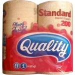 Q-PAP Quality Standard 1vrstvý toaletní papír, role 17 m, 4 role