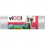 viGO pytle na odpad transparentní, 130 × 150 cm, 50 µ, 300 l, 10 ks