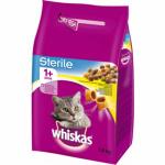 Whiskas Sterile chutné plněné granule s kuřecím masem, 1,4  kg