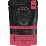 Fitmin For Life Hovězí kapsička pro psy, 85 g