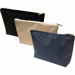 Barton Trading kosmetická taška na zip, zlatá, 28 × 18 × 7,5 cm