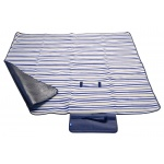 Pikniková deka FLEECE 150x135cm modrá, 13571