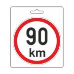 Samolepka omezená rychlost 90km/h (110 mm), 34487