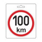 Samolepka omezená rychlost 100km/h (110 mm), 34488