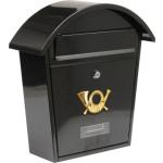 Poštovní schránka se stříškou oblou 380x320x105mm černá, TO-78585