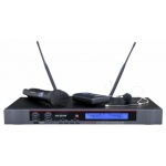 DEXON Bezdrátový mikrofon ruční + náhlavní / klopový , 2kanálový do racku MBD 732, 21_897