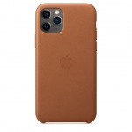 Apple iPhone 11 Pro Max Leather Case - Saddle Brown, MX0D2ZM/A