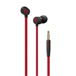 Apple urBeats3 Earphones 3.5mm - Defiant Black-Red, MUFQ2EE/A