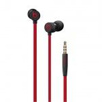 Apple urBeats3 Earphones 3.5mm - Defiant Black-Red, MUFQ2EE/A