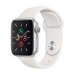 Apple Watch S5, 40mm, Silver/ White Sport Band, MWV62HC/A