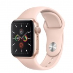 Apple Watch S5, 40mm, Gold/ Pink Sand Sport Band, MWV72HC/A