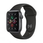 Apple Watch S5, 40mm, Space Grey/ Black Sport Band, MWV82HC/A