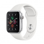 Apple Watch S5, 40mm, Silver/ White Sport Band / SK, MWV62VR/A