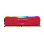 16GB DDR4 3000MHz Crucial Ballistix CL15 2x8GB Red RGB, BL2K8G30C15U4RL