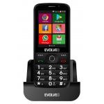 EVOLVEO EasyPhone AD, chytrý mobilní telefon pro seniory s nabíjecím stojánkem (černá barva), EP-900-ADB