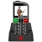 EVOLVEO EasyPhone FM, mobilní telefon pro seniory s nabíjecím stojánkem (stříbrná barva), EP-800-FMS