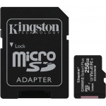 256GB microSDXC Kingston Canvas Select Plus  A1 CL10 100MB/s + adapter, SDCS2/256GB