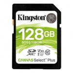128GB SDXC Kingston Canvas Select Plus U3 V30 CL10 100MB/s, SDS2/128GB