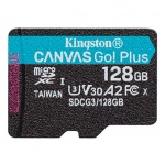 128GB microSDXC Kingston Canvas Go! Plus A2 U3 V30 170MB/s bez adapteru, SDCG3/128GBSP