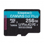 256GB microSDXC Kingston Canvas Go! Plus A2 U3 V30 170MB/s bez adapteru, SDCG3/256GBSP