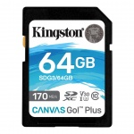 64GB SDXC Kingston U3 V30 170/70MB/s, SDG3/64GB