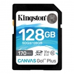 128GB SDXC Kingston U3 V30 170/90MB/s, SDG3/128GB