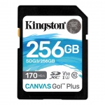 256GB SDXC Kingston U3 V30 170/90MB/s, SDG3/256GB