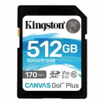 512GB SDXC Kingston U3 V30 170/90MB/s, SDG3/512GB