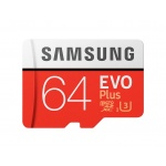 Micro SDXC 64GB Samsung EVO Plus + SD adaptér, MB-MC64HA/EU