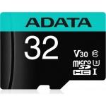 ADATA MicroSDHC 32GB U3 V30G 95/90MB/s + adapter, AUSDH32GUI3V30SA2-RA1