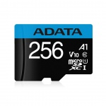ADATA MicroSDXC 256GB UHS-I 100/25MB/s + adapter, AUSDX256GUICL10A1-RA1