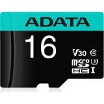ADATA MicroSDHC 16GB U3 V30S 95MB/s + adapter, AUSDH16GUI3V30SA2-RA1