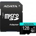 ADATA MicroSDXC 128GB U3 V30S 100/80 MB/s + adapter, AUSDX128GUI3V30SA2-RA1