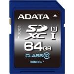 ADATA SDXC 64GB UHS-I Premier,Class 10, ASDX64GUICL10-R