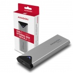 AXAGON EEM2-U3C, USB-C 3.2 Gen 1 - M.2 SATA SSD kovový box, délka 42 až 80 mm, EEM2-U3C
