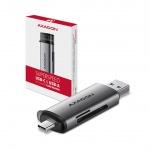 AXAGON CRE-SAC, USB3.2 Gen 1 Type-C + Type-A externí čtečka karet SD/microSD, podpora UHS-I, CRE-SAC