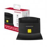 AXAGON CRE-SM2, USB externí čtečka 4-slot Smart card/ID card (eObčanka) + SD/microSD/SIM, CRE-SM2