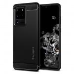 Ochranný kryt Spigen Rugged Armor pro Samsung Galaxy S20 ultra černý, ACS00711