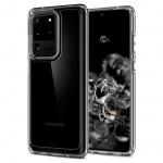 Ochranný kryt Spigen Ultra Hybrid pro Samsung Galaxy S20 ultra transparentní, ACS00713