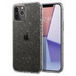 "Ochranný kryt Spigen Liquid Crystal Glitter pro Apple iPhone 12/iPhone 12 Pro (6,1"") transparentní, ACS01698"