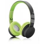 Aligator drátové sluchátka AH03, dálkové ovládání, černo/zelená, AH03GN